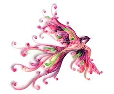 Quilled Fantasy Bird - by: Nghue Thuat Quilling