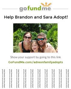 Please check this out if you have a minute! This is a friend of mine I've known since Elementary School. Her beautiful family needs your help! Much appreciated! heart emoticon Help us Adopt! Please pin and repin! http://www.gofundme.com/adreonfamilyadopts