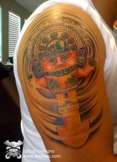 Swirled Tumi Tattoo » ₪ AZTEC TATTOOS ₪ Aztec Mayan Inca Tattoo Designs Instant Download