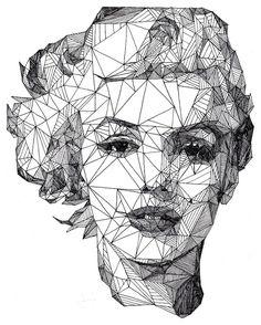 Josh Bryan, un artista inglés de 20 años, es el autor de la serie Triangulations. Una serie de retratos de personajes famosos como Johnny Depp, Marilyn Mon