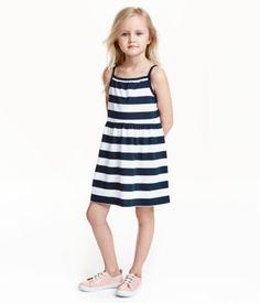 Jerseykleid | Grün/Gestreift | Kinder | H&M DE