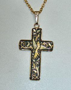 gorgeous damasquinado cross made in Toledo, Spain