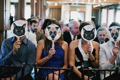 Ideias originais com cães e gatos para casamentos. #casamento #ideias #noivos #animais #cães #gatos