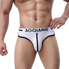 From 2.09 Fulltime(tm) Men Sexy Briefs Underwear Soft Cotton Boxers Pouch Shorts Underpants (s White)