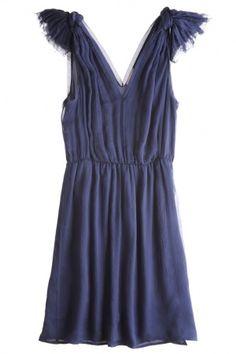 chiffon knot dress