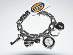 fossil charm watch... simple and cute