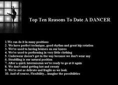 Top ten reasons to date a dancer...