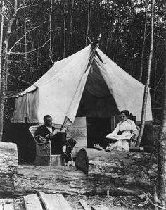 Tent home of Jenny and George Barker.