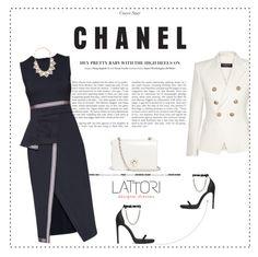 """LATTORI dress 5"" by mell-2405 ❤ liked on Polyvore featuring Lattori, Yves Saint Laurent, Tory Burch, Forever 21, Balmain, dress, dresses and lattori"