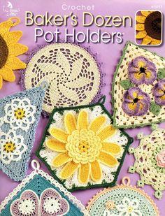 💮 Amor-Perfeito Crochetar TITULARES Doze Panela de padaria 13 Tópico pelo anexo padrão mascate -  /  💮 Perfect - Love Crocheted Baker's Dozen POT HOLDERS 13 Thread by pattern peddler annex -