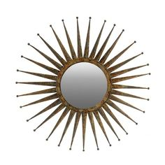"""Gorgeous, metal / rustic sun burst mirror gives a grand focal point in your home, a must have statement piece. FREE SHIPPING {within U.S only} D46"""""""
