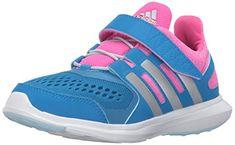 outlet store 7699b e5c18 adidas Performance Girls  Hyperfast El k Running Shoe, Shock Blue Matte  Silver Shock Pink, 3 M US Little Kid