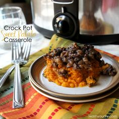 Crockpot Sweet Potato Casserole