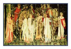 The Arming and Departing Knights from Holy Grail Tapestry by Arts and Crafts Movement Founder William Morris Counted Cross Stitch Chart Orenco Originals, To enter online shopping Just CLICK on AMAZON right HERE  http://www.amazon.com/dp/B0082BMZ4I/ref=cm_sw_r_pi_dp_eUBptb1D89SG1Z97