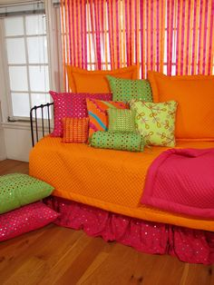 Bright color teen bedding