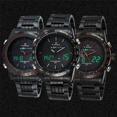 Men's Watches Naviforce Fashion Full Steel LED Digital Watch