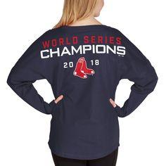 3b2f3cb5 Women's Boston Red Sox Majestic Navy 2018 World Series Champions Field  Spirit Jersey Long Sleeve T-Shirt. Graphic Sweatshirt ...