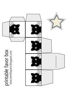 Free printable cat favor box - ausdruckbare Geschenkbox - freebie | MeinLilaPark – DIY printables and downloads