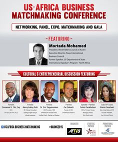 The US Africa Business Matchmaking Conference, hosted by AFTV5 and The Greater Austin Black Chamber of Commerce, will be held at the Asian American Resource Center - City of Austin from November 19 - 21, 2015. This year's conference will focus on the Localization and Matching of US & Africa Businesses. Some of the guest speakers will include Dr. Eric Tangumonkem, Founder and CEO of IEM Approach LLC., and Emmanuel U. Obi, Esq., Founder and CEO of The OBI Law Firm, PLLC. Get your tickets…