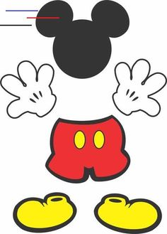 Mickey table decoration to print for free Mickey Mouse Crafts, Fiesta Mickey Mouse, Mickey Mouse Decorations, Mickey Mouse Clubhouse Birthday, Mickey Mouse Parties, Mickey Birthday, Mickey Party, Birthday Crafts, Mickey Mouse Birthday