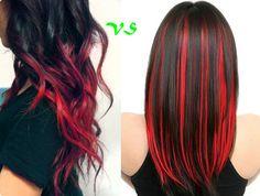 Ombre Hair und Strähnchen(Highlights), welche Trendfrisur 2013 ist Ihr Favorit? rote clip in extension ombre