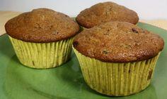 Zucchini Chocolate Chip Muffins (WeightWatchers friendly)