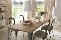 Tisch Malaga Cantori  Tabelle mit Stielen voller Eisen Laser geschnitten, gebogen und von Hand poliert.