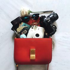 Song of Style / Celine, Chanel, and Chloe Bags. Whats In Your Purse, What In My Bag, What's In Your Bag, It Bag, Eos Balm, Caber, Song Of Style, Celine Bag, Fashion Bracelets