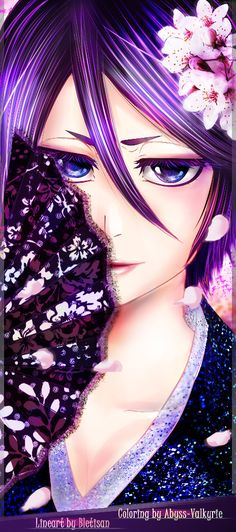 Rukia nihon-lineart coloring by Abyss-Valkyrie.deviantart.com on @deviantART