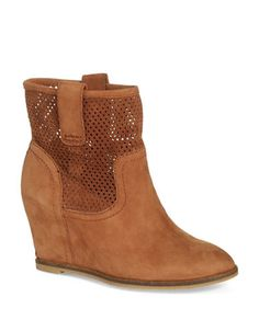 Keno Leather Covered-Wedge Ankle Boots | Lord and Taylor