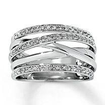 14K White Gold ¼ Carat t.w. Diamond Ring