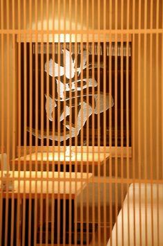 "LSD design co., ltd. ""Yumesushi""/2008/sushi bar/Okinawa, Japan/interior and facade design counter, louver, wood, Japanese"