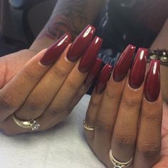 Absolutely Fabulous nails!!! Love the length shine and colour