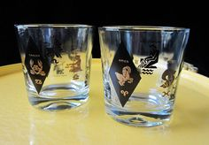 Zodiac Drinking Glasses Set of 2 Old Fashioned by SaltwaterVillage