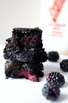 salted caramel blackberry brownies.