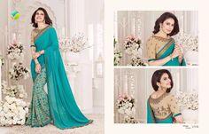 Pakistani Indian Ethnic Printed saree partywear Bridal Traditional Sari 340