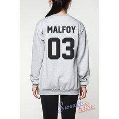 Draco Malfoy Harry Potter Sweatshirt Deathly Hallows Movie Shirts... (€22) ❤ liked on Polyvore featuring tops, t-shirts, harry potter, t shirts, gray tee, unisex tees, unisex shirts and unisex tops