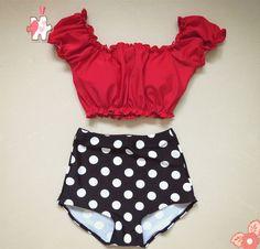 2016 women Ruffle Tank Top Cheeky Pink Swimwear Teens Swimsuit Junior Bikini Set Padded Bathing Suit High Waist Monokini M-XL - Swimsuit - Badeanzug Vintage Bathing Suits, Vintage Swimsuits, Cute Bathing Suits, Swimsuits For Teens, Cute Swimsuits, Trajes Pin Up, Mode Du Bikini, Trendy Swimwear, Women's Swimwear