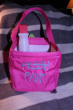 Nail painting supplies in a Littles Carry-All Caddy from thirty-one. www.mythirtyone.com/shopwithmae