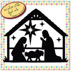Nativity SVGDXFclipartchristmas svgnativity cut filejesus