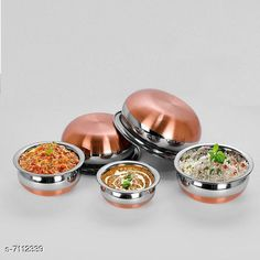 Pots Copper Bottom Handi Pot 5 Piece Set/Steel Handi Set  Copper Bottom Handi Pot 5 Piece Set/Steel Handi Set Country of Origin: India Sizes Available: Free Size   Catalog Rating: ★4 (2382)  Catalog Name: Copper Bottom Handi Pot 5 Piece Set/Steel Handi Set CatalogID_1135304 C137-SC1596 Code: 184-7112339-3441