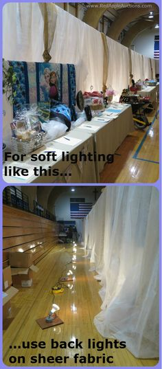 """This falls under the category of """"how to easily make a school gym look elegant."""" #BenefitAuctionIdeas"""