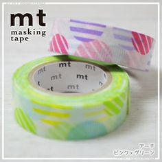 Mt masking tape 2 pieces Pack arches, pink x Green