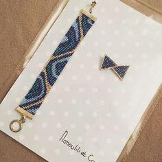 Un nouveau petit paquet ! Le voilà le petit noeud de @rose_moustache !! Et un bracelet tissé cette été mais pas encore livré à sa destinataire #jenfiledesperlesetjassume #perlezmoidamour #perlesaddict #rosemoustache #plaisirdoffrir #blue #noeud #miyuki