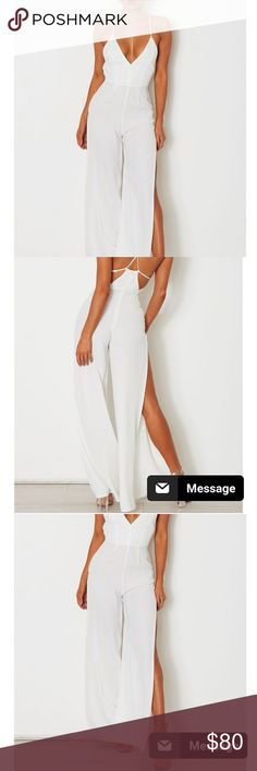 NWT - Austin Split Jumpsuit Not Reformation - tagged for exposure - Whitefox Boutique - Never worn - super cute one piece.  Online it is $90 and I paid that plus shipping from Australia.  Reason to sell is that I am 32D and it shows a bit too much of my boob, but if you like that then you will have no problem :) it looks beautiful. And if you are smaller than 32D, I bet it will look terrific. True to size.   Kind of sad to get rid of it, I bought it to wear in St. Lucia in June. Reformation…