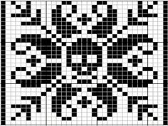 "Babbens Idéverksted: Fra ""Selbu Peace and Love"" til ""Selbu No-death"". Cross Stitch Skull, Cross Stitch Kits, Cross Stitch Designs, Cross Stitch Patterns, Filet Crochet, Crochet Cross, Crochet Chart, Halloween Knitting, Halloween Cross Stitches"