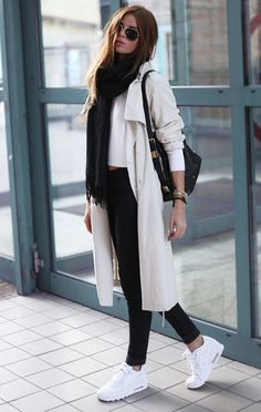 Casual outfit for the winter - Fashion Design Sneakers Fashion Outfits, Mode Outfits, Winter Outfits, Casual Outfits, Sneakers Style, Fashion Shoes, White Sneakers Outfit, Sneaker Outfits, Fashion Clothes