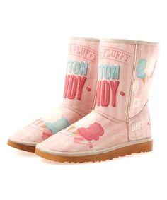 Another great find on #zulily! Pink & Baby Blue Faux Fur Boot #zulilyfinds