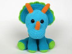 Ravelry: Triceratops Tripi Dinosaur Amigurumi pattern by Veronika Maskova
