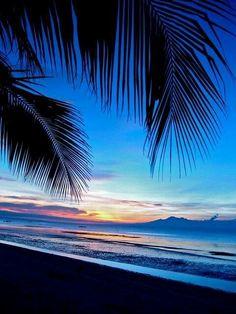 Beautiful Sunset on the beach Beautiful Sunrise, Beautiful Beaches, Beautiful Ocean, Beautiful Scenery, Sunset Beach, The Beach, Blue Sunset, Hawaii Beach, Beach Bum